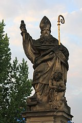 Statue of Augustine of Hippo, Charles Bridge