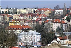 View of the Střešovice from Břevnov