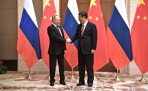President Vladimir Putin with President of China Xi Jinping