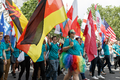 Pride in London 2016 - Flag bearers in the parade as it passes Trafalgar Square.png
