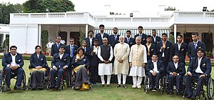 India at the 2016 Summer Paralympics - Prime Minister Narendra Modi with the Indian Contingent for Rio 2016 Paralympics
