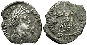 Heraclianus - Coin minted by Priscus Attalus.