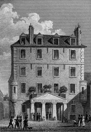 Prison de l'Abbaye - The prison de l'Abbaye in 1831
