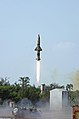 Prithvi-II Missile launched from Chandipur Range on October 07, 2013.jpg