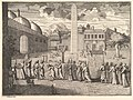 """Procession through the Hippodrome, Constantinople (Aubry de La Mottraye's """"Travels throughout Europe, Asia and into Part of Africa...,"""" London, 1724, vol. I, plate 15) MET DP824505.jpg"""