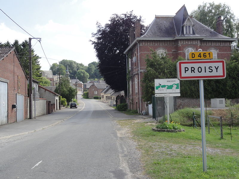 Proisy (Aisne) city limit sign