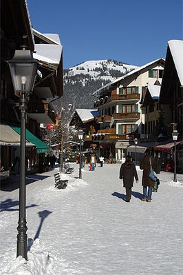 Gstaad in de winter