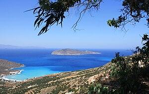 Pseira - The island of Pseira from the coast near Platanos.