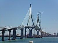 Puente de la Constitución de 1812, Cádiz, en agosto de 2015.jpg