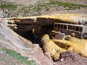 Las Heras Department - The Inca Bridge to the west of the Las Heras Department