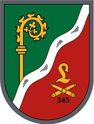 10th Panzer Division (Bundeswehr) - Image: Pz Art Btl 345