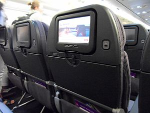 In-flight entertainment - iQ entertainment system on a Qantas A330