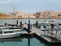 View of harbor in Al Khor City