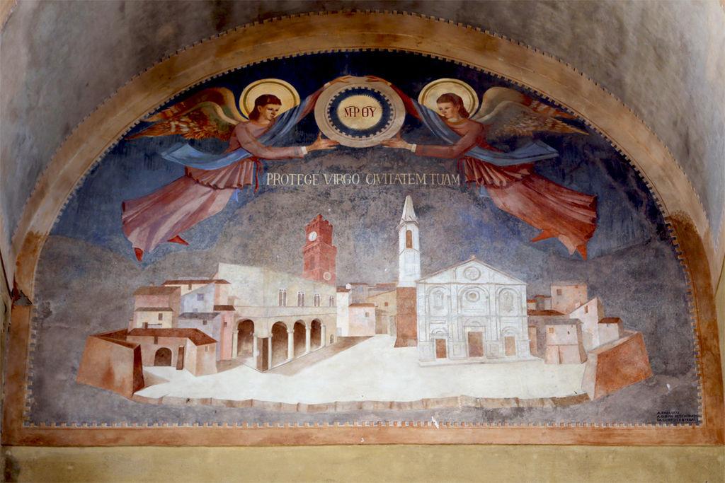 Porta al Prato o porta al Murello, affresco, Pienza