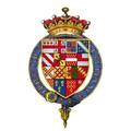 Quartered arms of Sir Robert Devereux, 2nd Earl of Essex, KG.png