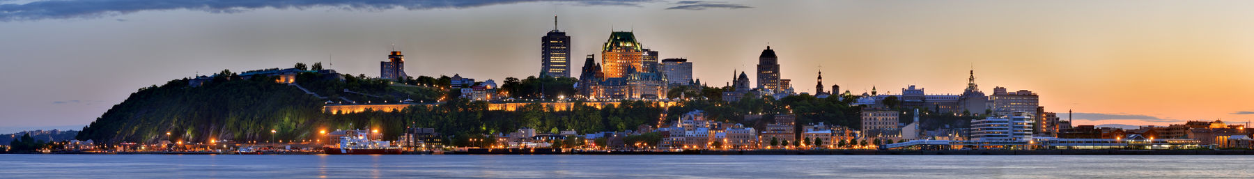 Ville de Québec panorama, viewed from Lévis