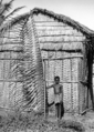 Queensland State Archives 1377 Plaited Palm Leaf and a Hut at Palm Island c 1935.png