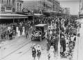 Queensland State Archives 2975 Procession in support of World War I through Queen Street Brisbane 1917.png