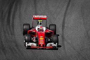 2016 Spanish Grand Prix - Kimi Räikkönen and Ferrari struggled in qualifying, leaving them on the third row of the grid.