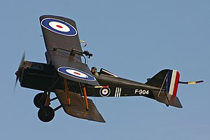 Military aircraft insignia - Royal Aircraft Factory SE5a with British markings standardized during the First World War.