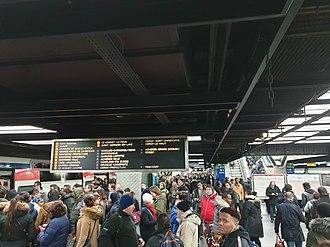 Châtelet–Les Halles - RER A at Châtelet-Les Halles