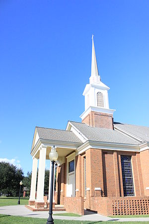 Baptist College of Florida - The R.G. Lee Chapel is the iconic landmark located at The Baptist College of Florida. During the semester, chapel services are held Monday through Wednesday. Chapel podcasts can found at the BCF website.