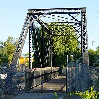 Iron Horse Regional Trail - A converted railroad bridge crossing Walnut Creek at the Concord-Pleasant Hill boundary