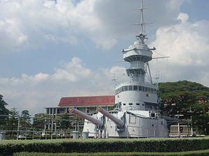 Battle of Ko Chang - HTMS Thonburi Memorial, Royal Thai Naval Academy, Samut Prakan, Thailand