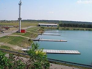 Račice, veslařský kanál - start.JPG