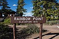 Rainbow Point - Bryce Canyon sign (28133600264).jpg