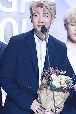 Rap Monster at Seoul Music Awards on January 19, 2017 (1).jpg