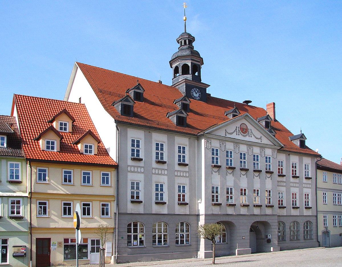 Rathaus am Marktplatz Bauwerk errichtet von 1706-1711 Themar Thüringen Foto Wolfgang Pehlemann IMG 2720.jpg