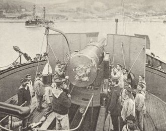 French ironclad Redoutable - Image: Redoutable barbette