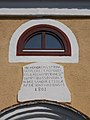 Reformed Church window and plaque, 2016 Bonyhad.jpg