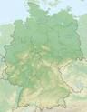 Lokalisierung von Baden-Württemberg in Deutschland