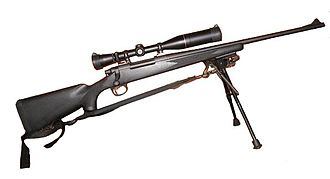 Remington Model 700 - Remington Model 700 ADL with rifle scope, bipod, and sling