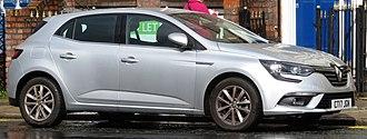 Renault Mégane - Image: Renault Mégane diesel registered May 2017 1461cc (cropped)