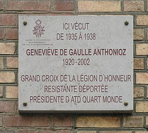 Gaulle Anthonioz, Geneviève de (1920-2002)