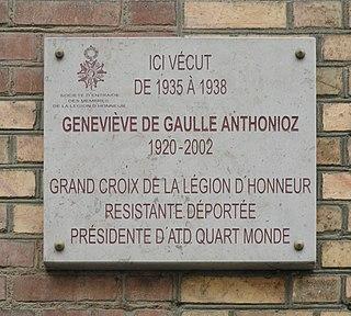 Geneviève de Gaulle-Anthonioz French resistance member