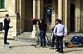 Reporter am Domplatz Papstbesuch 2011.jpg