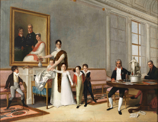 Portrait of the Family of the 1st Viscount of Santarém