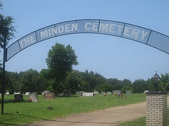 Minden Cemetery - Entrance to Minden Cemetery at Goodwill Street.