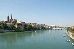 The Rhine in Basel.