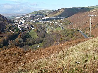 Rhymney Valley - Image: Rhymney Valley geograph.org.uk 1049228