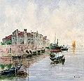 Richard Lipps - Italienische Hafenansicht mit Fischerbooten.jpg