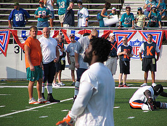 Miami Dolphins - Ricky Williams on August 8, 2005 at his first game back from retirement