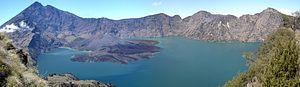 Lake Segara Anak - Image: Rinjani Caldera