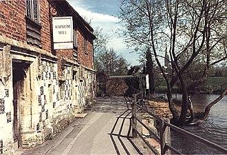 River Nadder - Image: River Nadder Harnham Mill