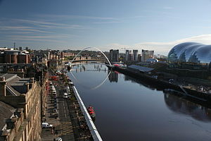 River Tyne - The River Tyne flowing through Newcastle upon Tyne