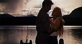 Robert Mitchum en Marilyn Monroe in River of No Return